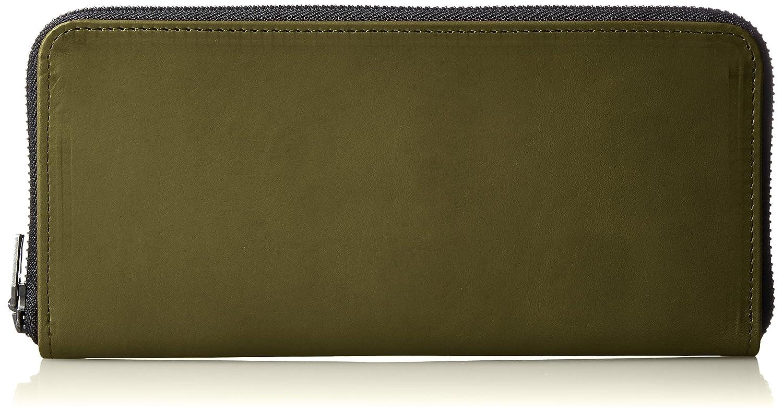 [ヴィンテージリバイバルプロダクションズ] 財布 roundzip slim oil leather 日本製 59230 B01MA5UCEV オリーブ オリーブ