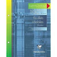 Clairefontaine - Pack de hojas, Blanco, 16,5x21 cm , 50 hojas, 280 g/m2
