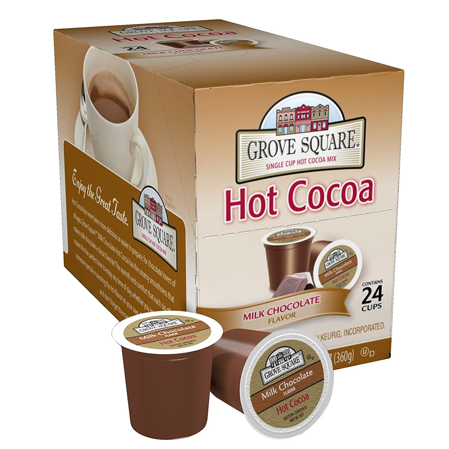 Grove Square Hot Cocoa, Milk Chocolate, 24 count