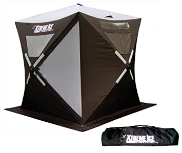 Ap Outdoors Xtreme Ice Xi3 - 3-4 Person Hub Style Pop-Up Ice  sc 1 st  Amazon.com & Amazon.com : Ap Outdoors Xtreme Ice Xi3 - 3-4 Person Hub Style Pop ...