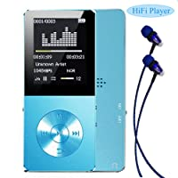 Mp3 player, Frehoy 8GB Portable MP3 Player(Expandable Up to 128GB), Music Player/Voice Recorder/FM Radio with HD Headphone