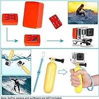 Neewer Cámara Acción Surfing Montura Kit de Accesorios para Gopro Hero 7 6 5 4 3 2 1 APEMAN Lightdow Cymas AKASO EK7000 SJ7000 SJ4000 Cámara de acción y Más para Tabla de Surf Patineta Tablero de Wake