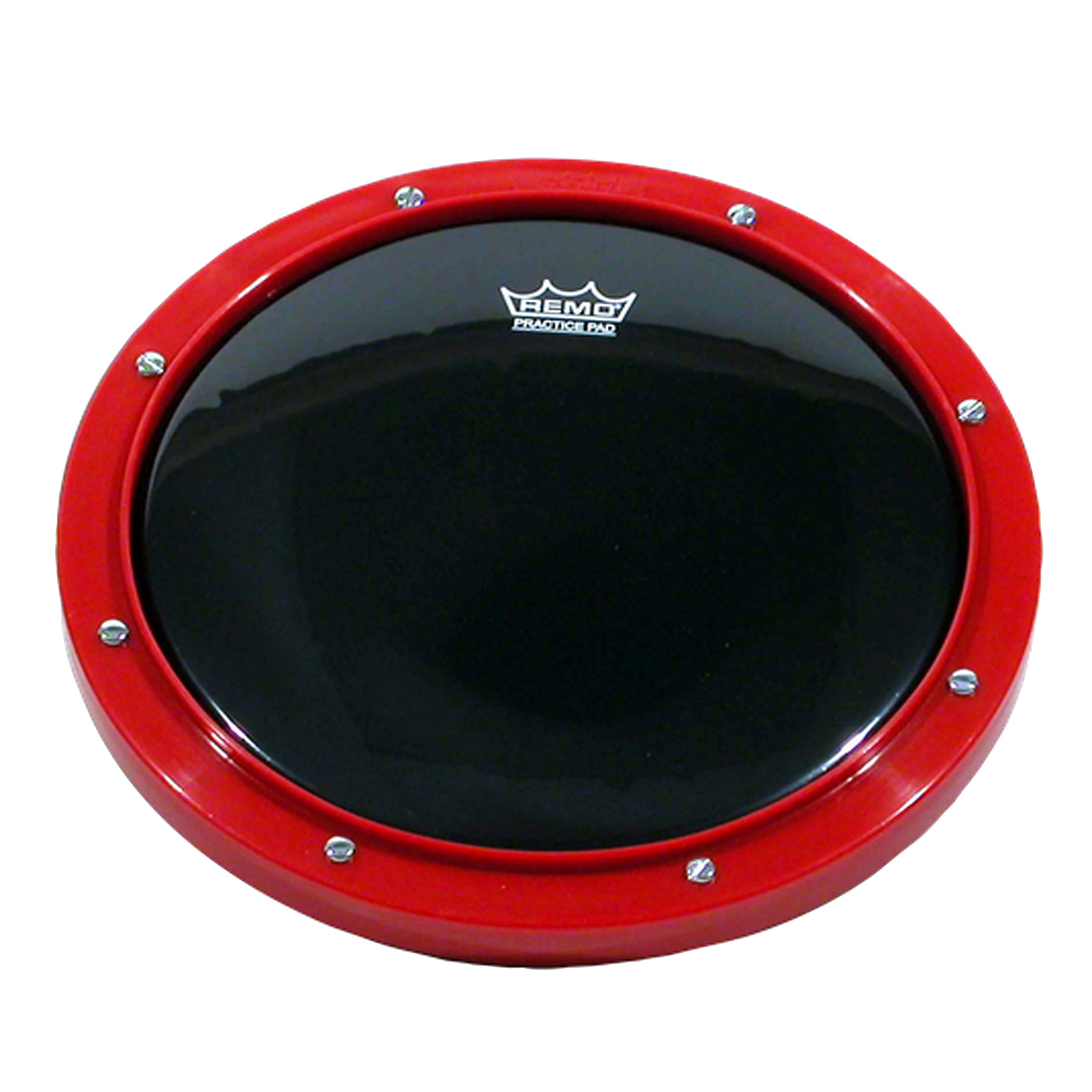 Remo RT-0008-58 8'' Red Tunable Practice Pad with Ambassador Ebony Drumhead