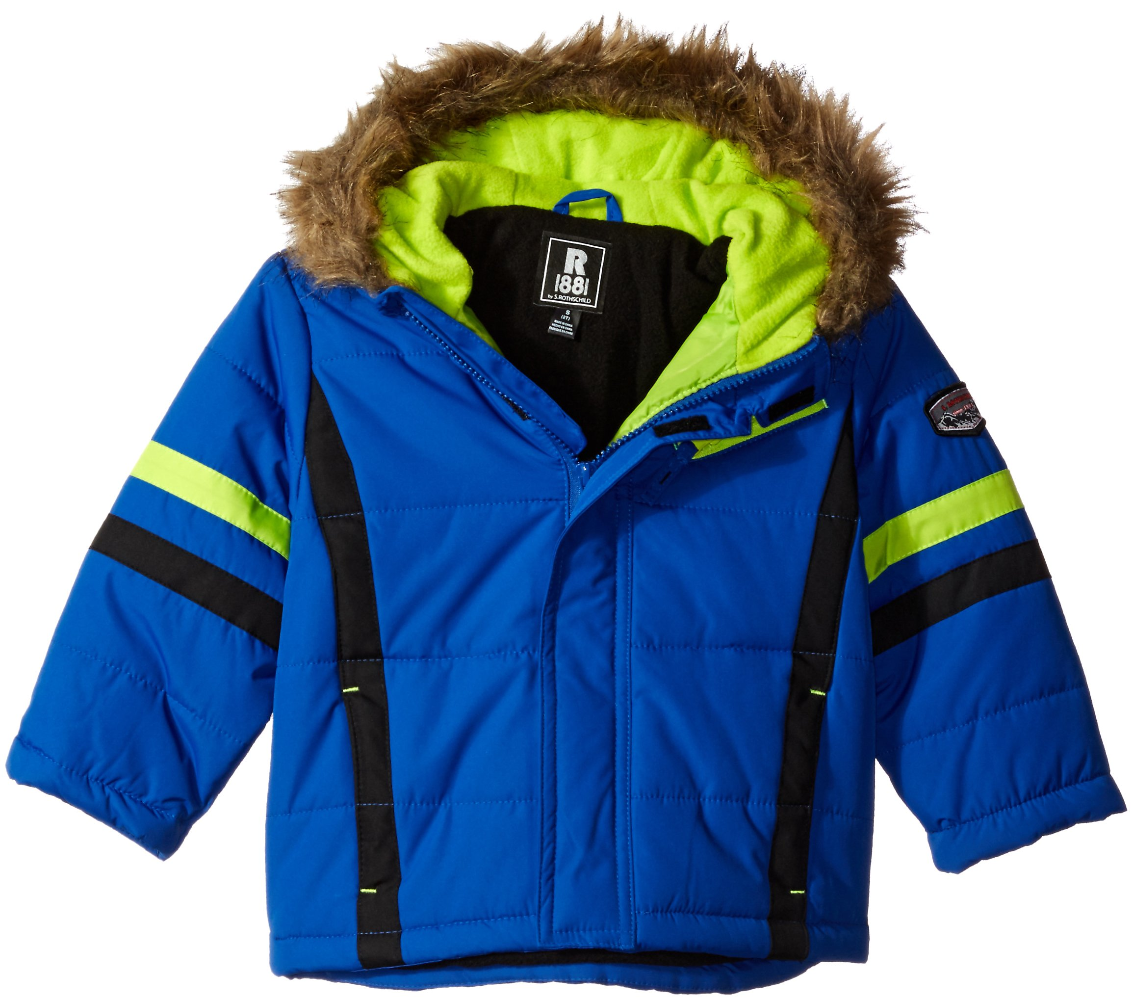 Rothschild Little Boys' Toddler Parka Snowsuit, Cobalt, 4T