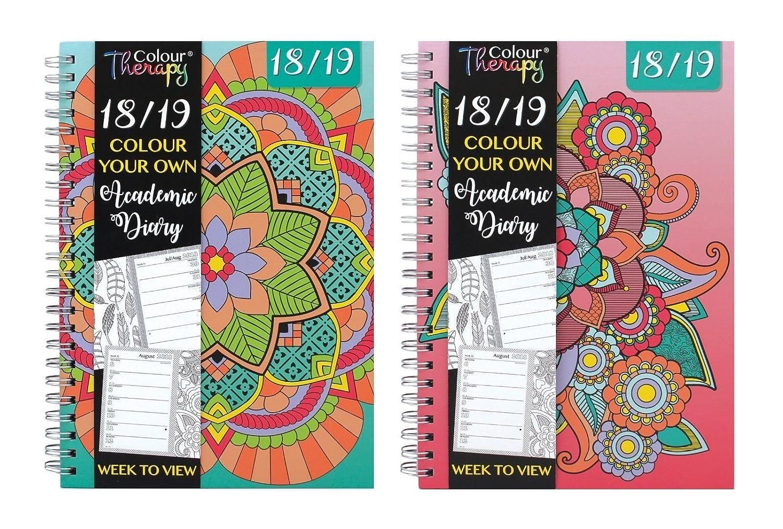 Agenda scolaire 3928 2018/2019 Tallon -Format A5- Motifs de Colour Therapy (français non garanti)