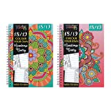 Tallon 3928 2018 2019 A5 Academic diary with Colour Therapy Patterns