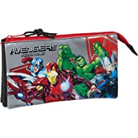 safta 812079744 Estuche portatodo Triple Escolar Avengers, Multicolor