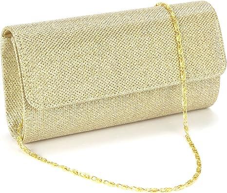 Anladia Mini Sac a Main Pochette Style Portefeuille Glitter pr Soiree Mariage Femme Fille 3couleur