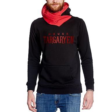 Y el fuego sudadera con capucha suéter de sangre para el Juego de Tronos aficionados Targaryen de Elbenwald negro - L: Amazon.es: Ropa y accesorios