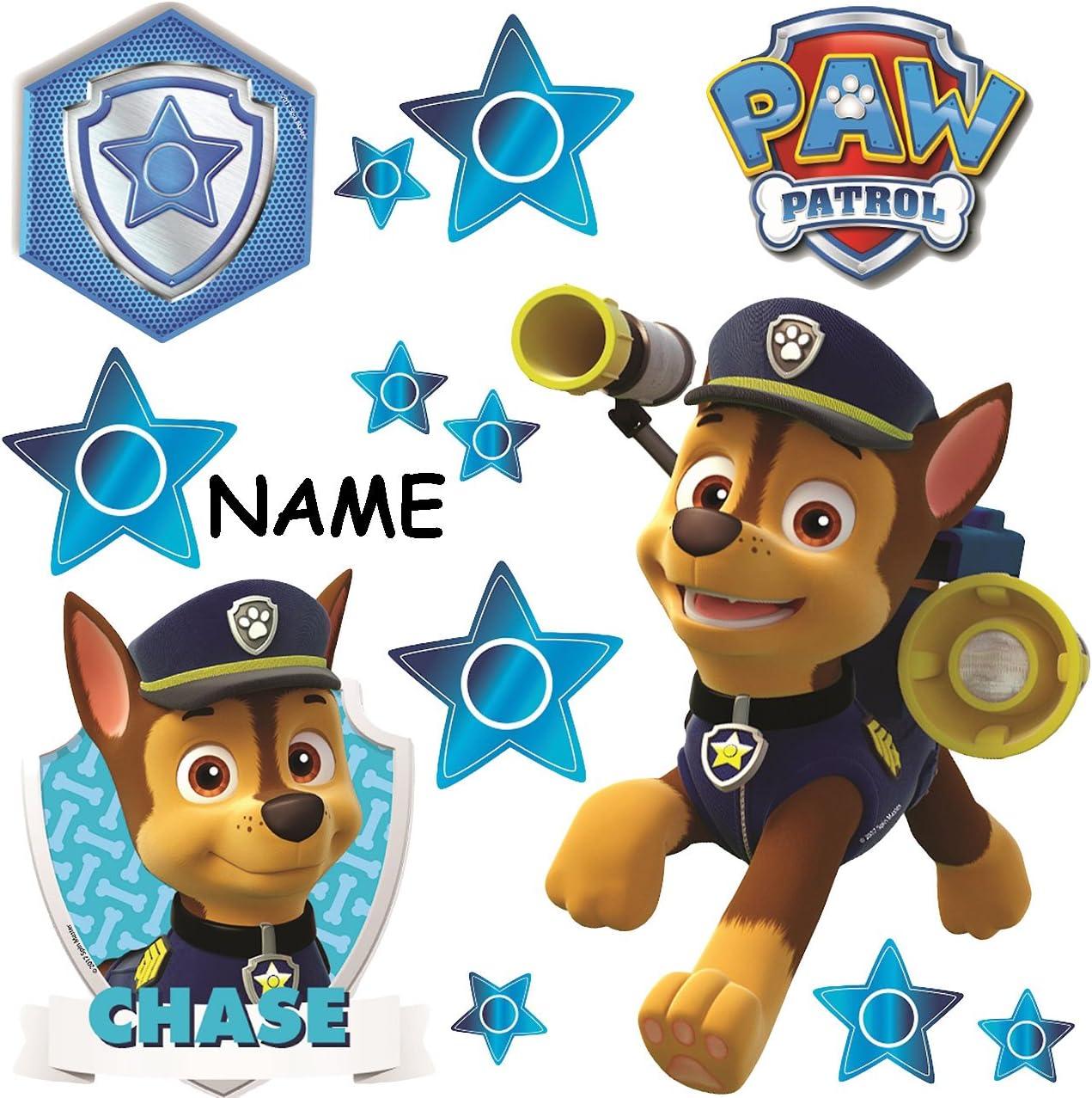 selbstklebend alles-meine.de GmbH 13 TLG Paw Patrol Fenster.. inkl Sticker Fenstersticker Aufkleber wiederverwendbar Name Polizei Hund Chase Set /_ Fensterbilder