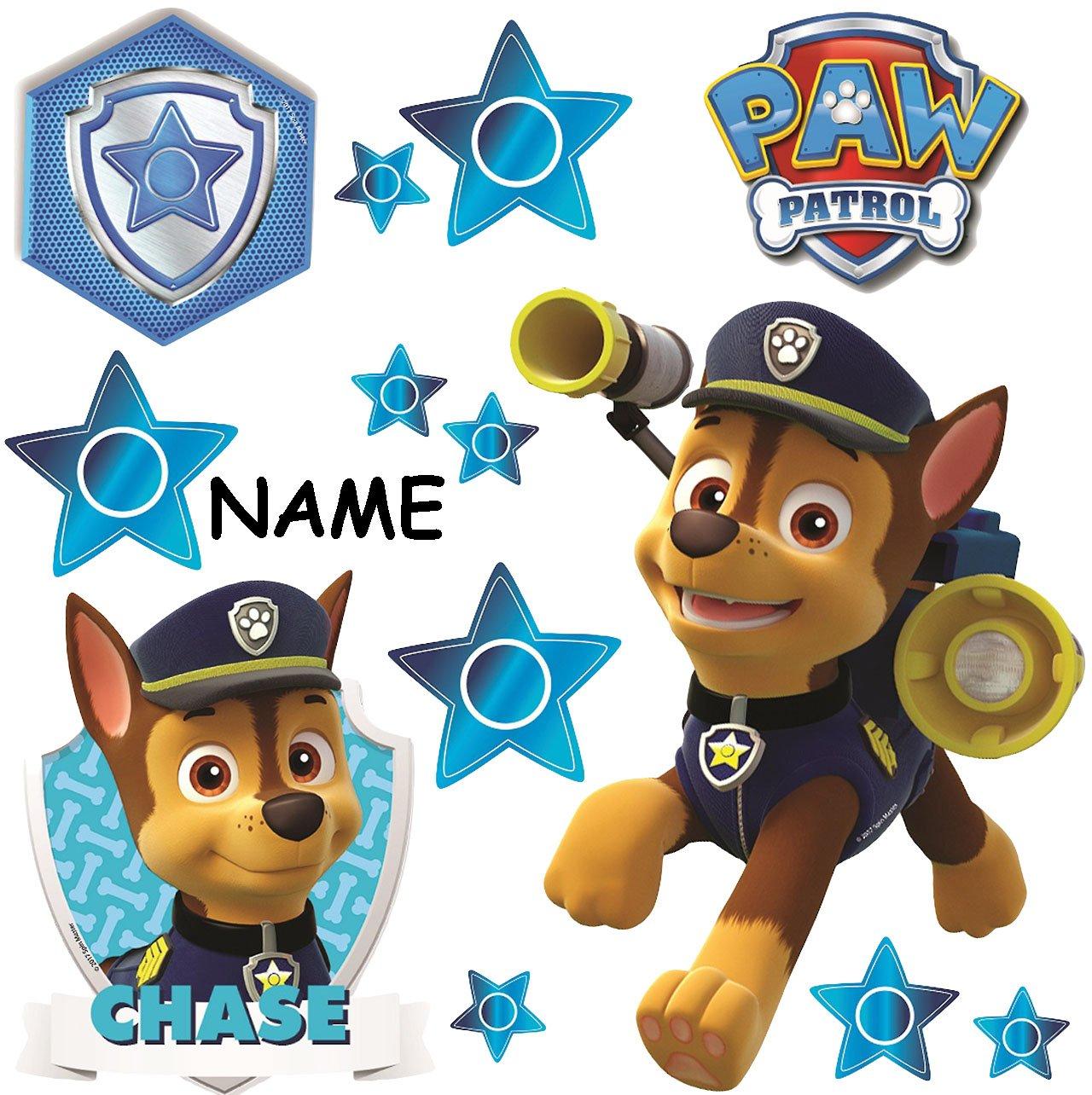 "große Wandsticker "" Paw Patrol Polizei Hund Chase "" incl"