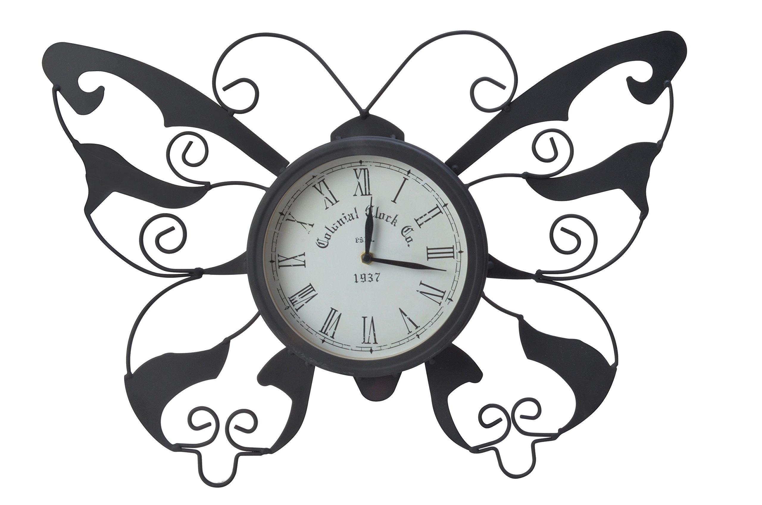 Moonrays 95008 Butterfly Garden Clock