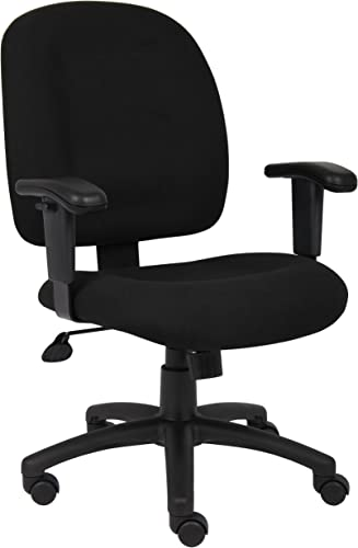 Boss Office Products B495-BK Fabric Task Chair