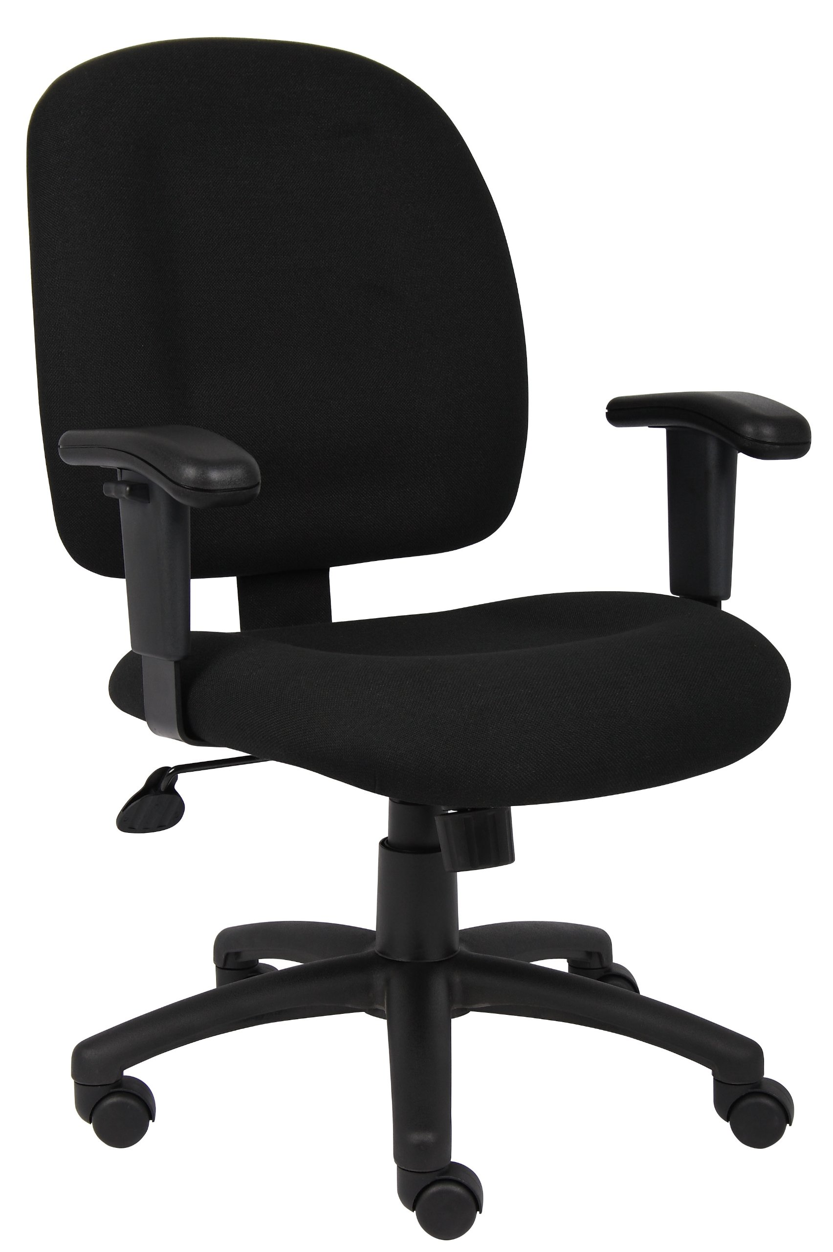 Boss Office Products B495-BK Fabric Task Chair with Adjustable Arms in Black