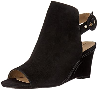 2d1a8ab064c ADRIENNE VITTADINI Footwear Women s RASI Wedge Sandal Black 7 ...