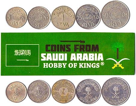 5 Monedas Diferentes - Moneda extranjera Saudita Antigua y Coleccionable para coleccionar Libros - Conjuntos de Dinero únicos y mundiales - Regalos para coleccionistas: Amazon.es: Juguetes y juegos