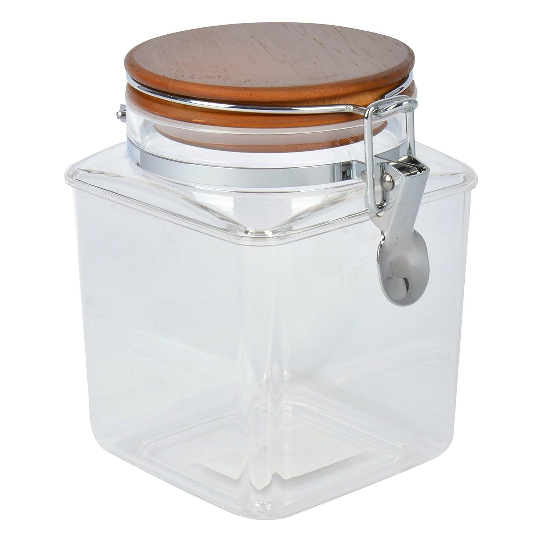 Bloquer H/éctor Bote de Cocina Transparente con Tapa 10x10x19 cm