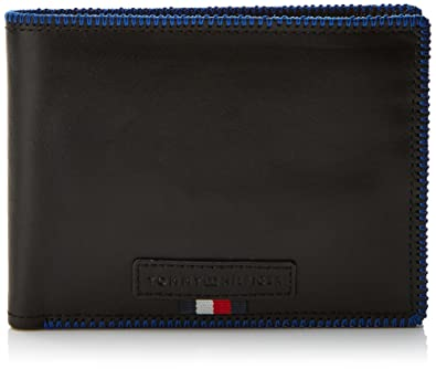 Tommy Hilfiger Edge Stitch Extra Cc And Coin, Portefeuilles homme, (Black), 1x13.5x9.5 cm (B x H T)