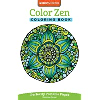 Image for Color Zen Coloring Book: Perfectly Portable Pages (On-the-Go Coloring Book) (Design Originals) Extra-Thick High-Quality Perforated Pages & Convenient 5x8 Size: Take Along to De-Stress Wherever You Go