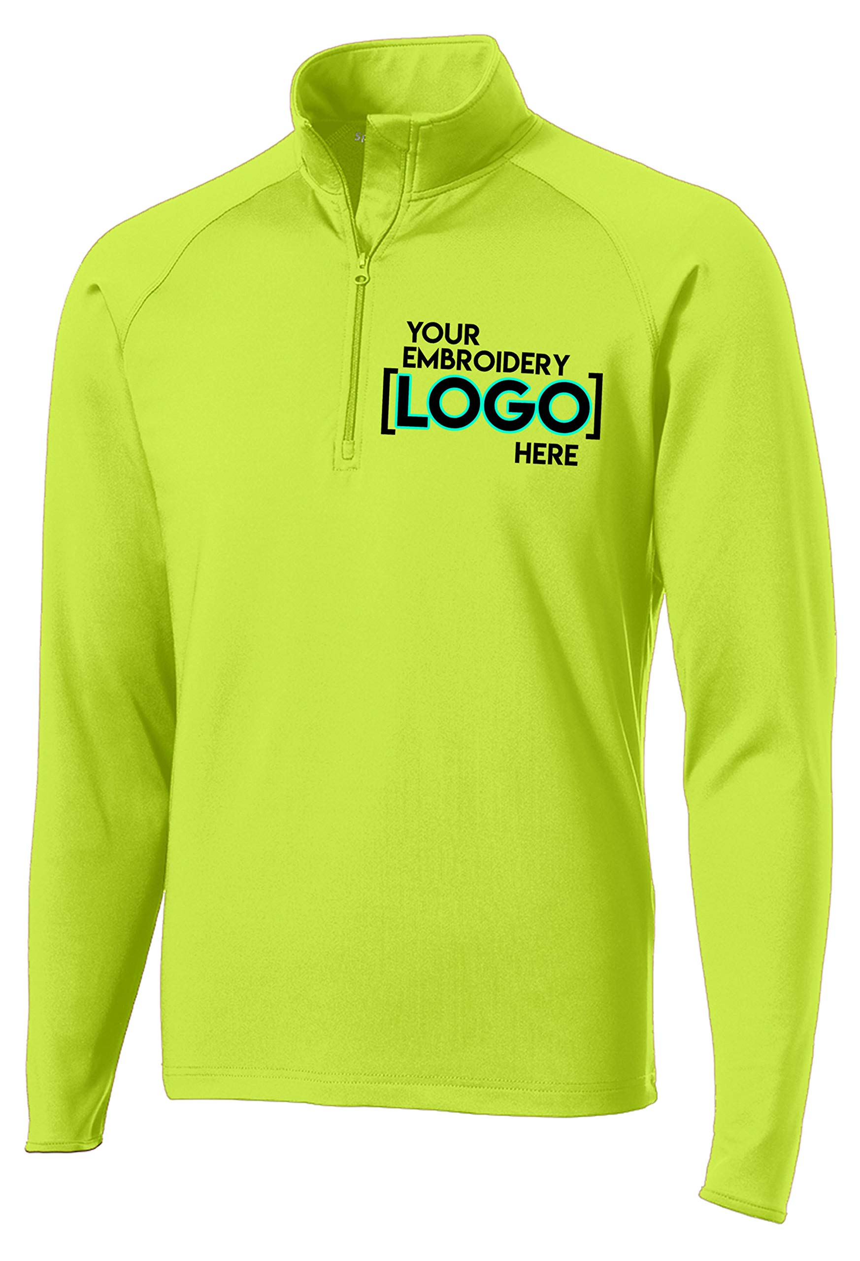 Custom Embroidered Jackets for Men - Lightweight Embroidery Half Zip Pullover by Tee Miracle