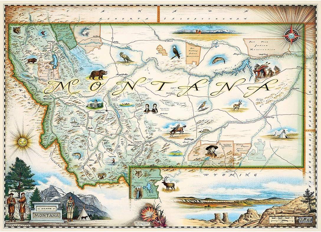 Alaska National Park MasterPieces Xplorer Maps Jigsaw Puzzle 100/% Made in USA 1000 Pieces