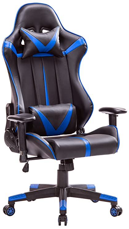 top gamer racing gaming chair pc computer game chairs for video game blueblack
