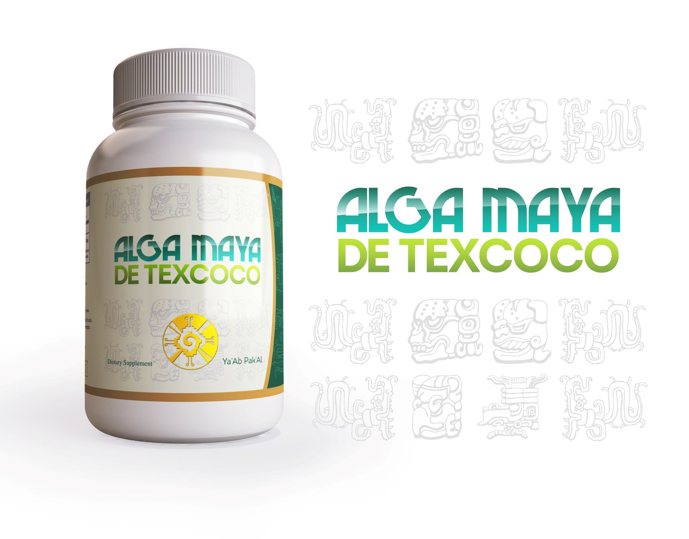 Alga Maya Spirulina - 500mg Maximum Strength Natural Supplement - 30 Day Supply - 60 Veggie Capsules (4)
