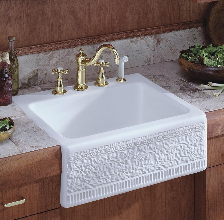 KOHLER K-158-3-CP Antique Kitchen Sink Faucet, Polished Chrome ...
