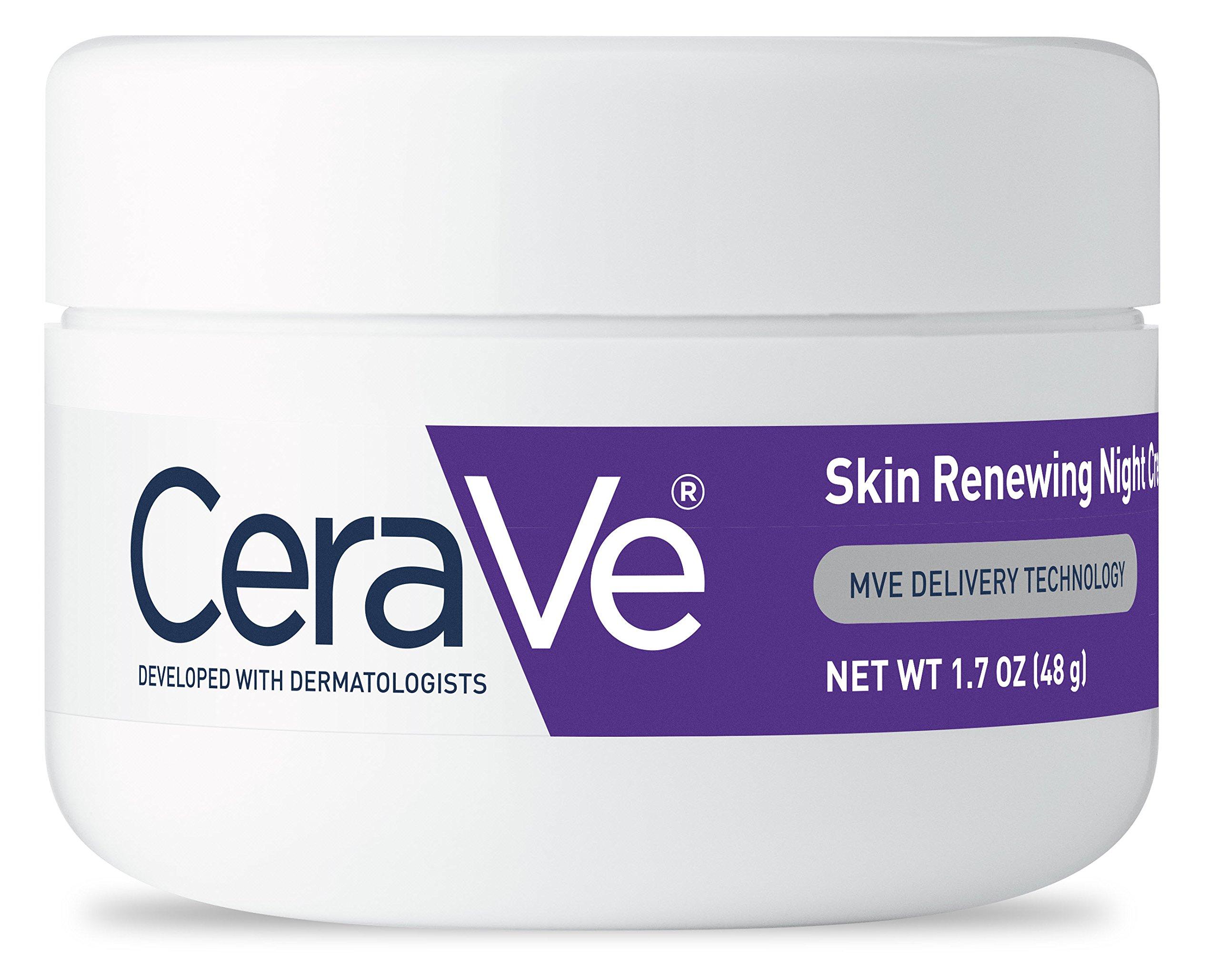 CeraVe Skin Renewing Night Cream - Multipurpose Night Cream, Face Moisturizer, Anti Aging Face Cream & Wrinkle Cream – Moisturizer for Face w Hyaluronic Acid & Niacinamide, 1.7 oz by CeraVe (Image #3)