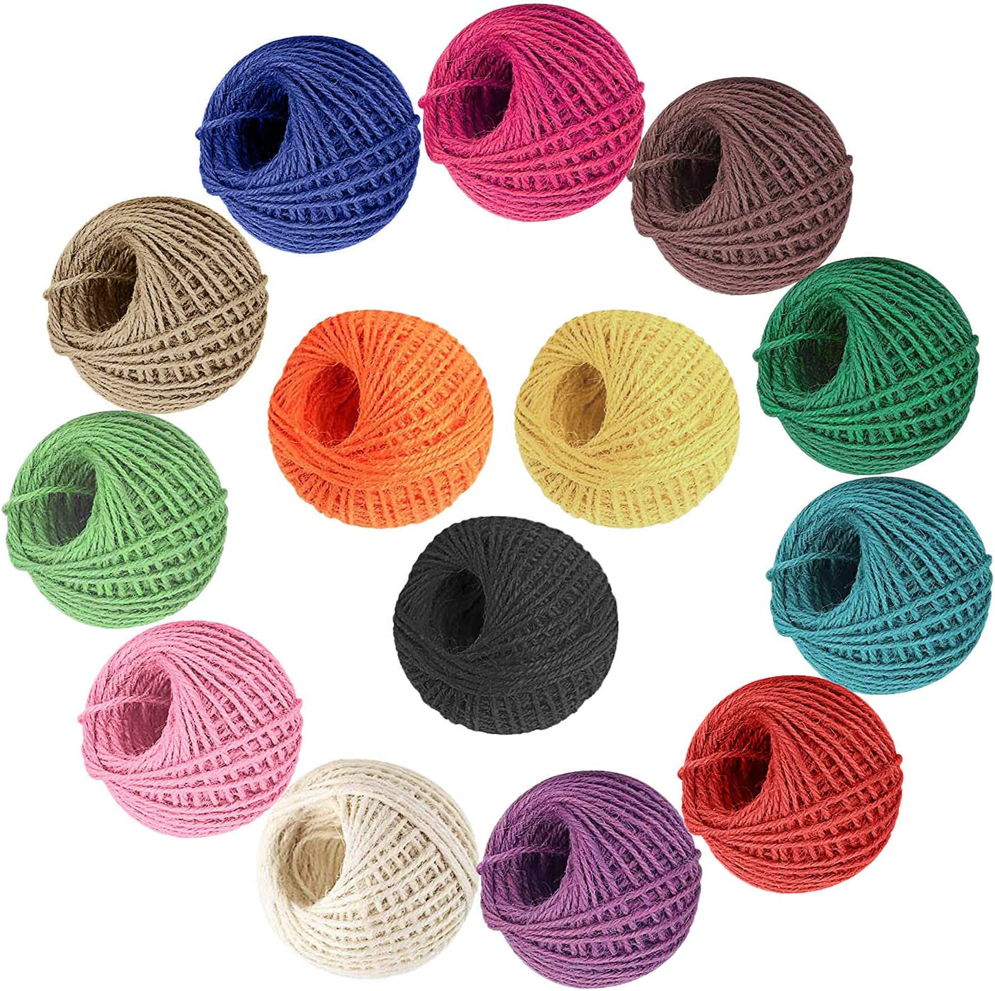 Artesan/ía de Bricolaje Cuerda de Yute Colores Jard/ín Deco Regalos Diealles Shine 14 Colores Cuerda de Yute 2mm 3 Capas para Obras de Arte 350m en Total Decoraci/ón Paquetes