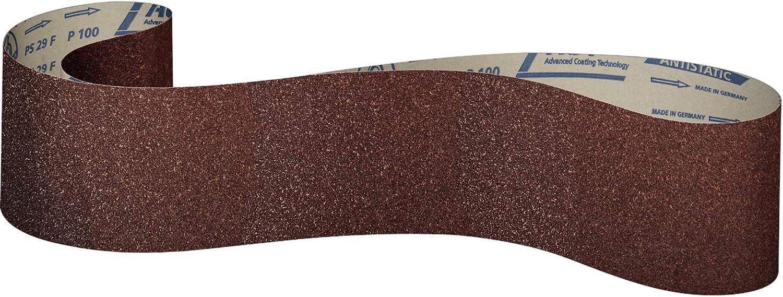 Klingspor PS 29 F Lot de 10 bandes abrasives grain 80 F5 150 x 2170 mm