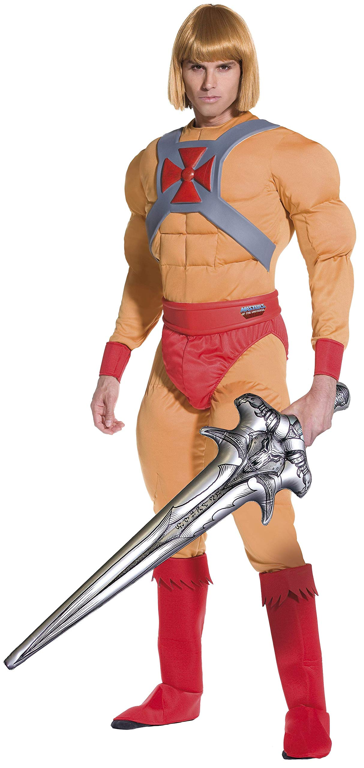 He Man Masters of the Universe Costume Large with Prince Adam Wig