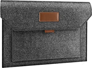 MoKo 13-13.5 Inch Felt Laptop Sleeve Case Cover with Pocket Compatible with Surface Book 1/2, Surface Laptop 3 15