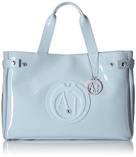 ARMANI JEANS Women s Eco Patent East West Tote Shoulder Handbag ... 91ae771609724
