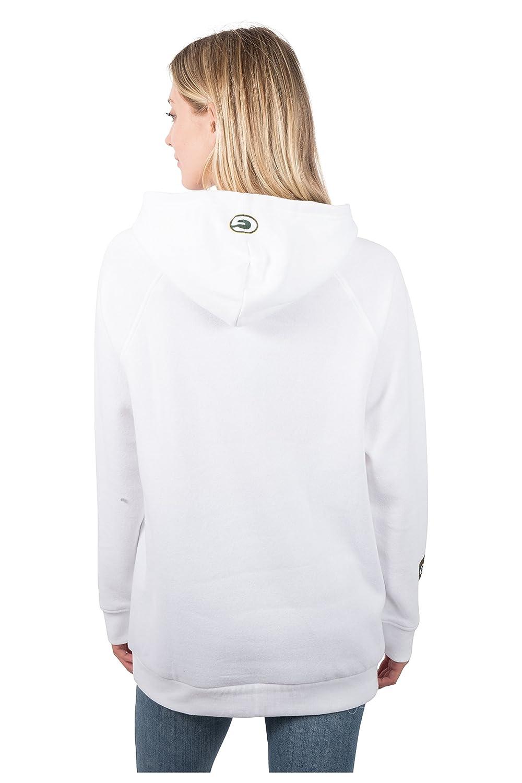 Icer Brands NFL Women s Fleece Hoodie Pullover Sweatshirt Tie Neck ... c2a64b765