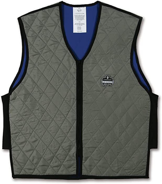 Ergodyne Chill-Its 6665 Evaporative Cooling Vest - Gray, Large