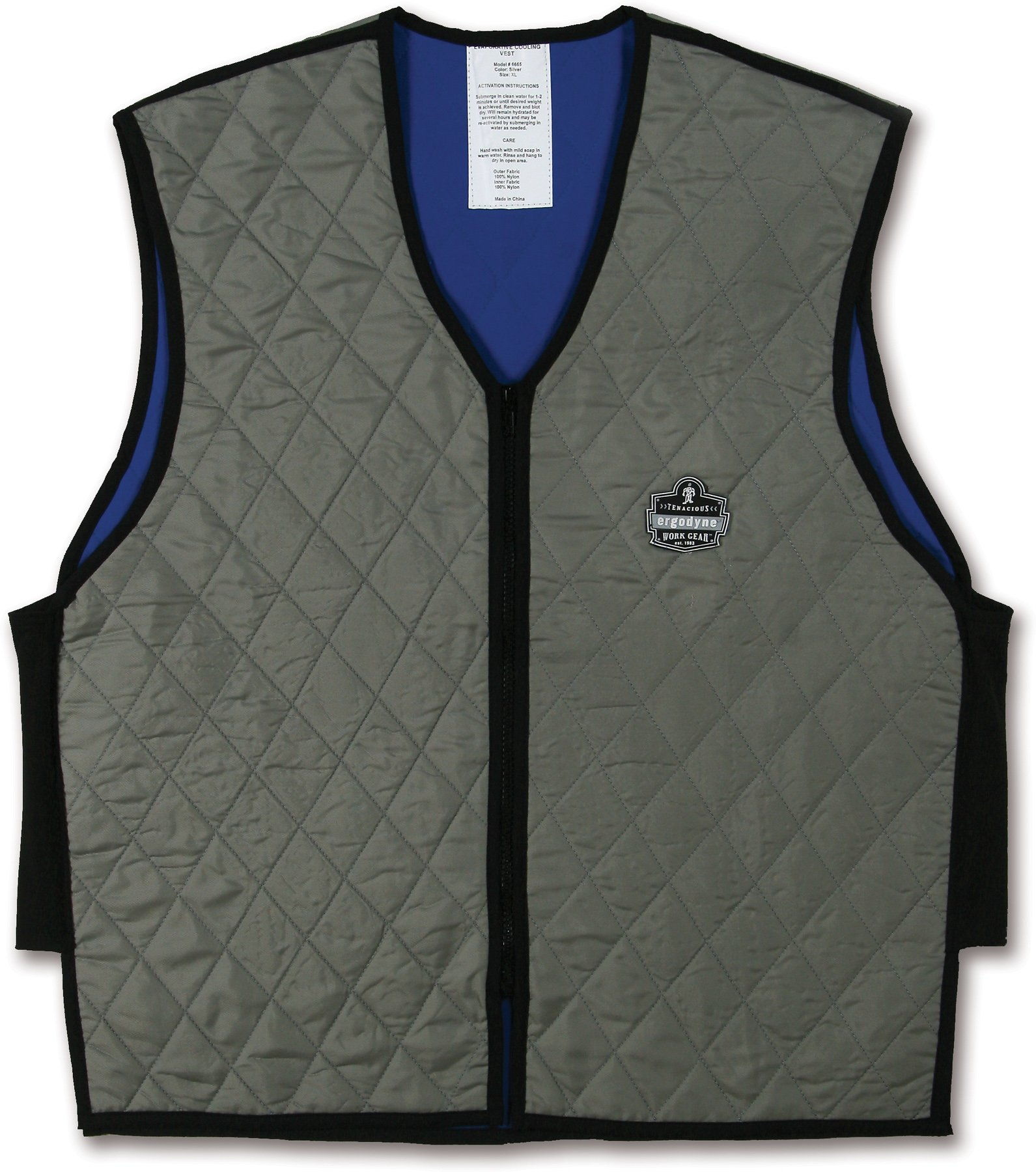 Ergodyne Chill-Its 6665 Evaporative Cooling Vest - Gray, Large