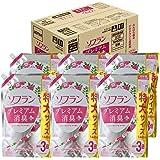 【ケース販売 大容量】ソフラン プレミアム消臭プラス 柔軟剤 フローラルアロマの香り 詰め替え 1440ml×6個