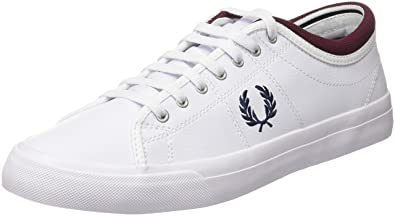 07a06b2e63 Fred Perry Kendrick Tipped Cuff Leather Sneaker, White, 10 D UK (11 US