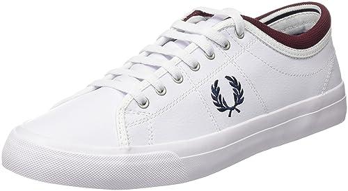 Fred Perry Kingston Twill, Zapatos de Cordones Oxford para Hombre, Blanco (White), 41 EU