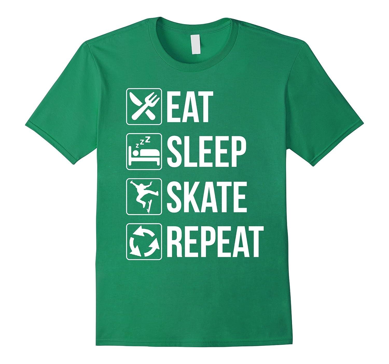 Funny Eat Sleep Skate Repeat TShirt for Skaters-RT
