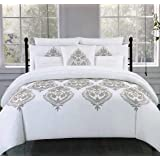 de99c67431 Tahari Home Maison Bedding Marossy Embroidered Copper Color Thread Damask  Medallions Full/Queen Size Luxury