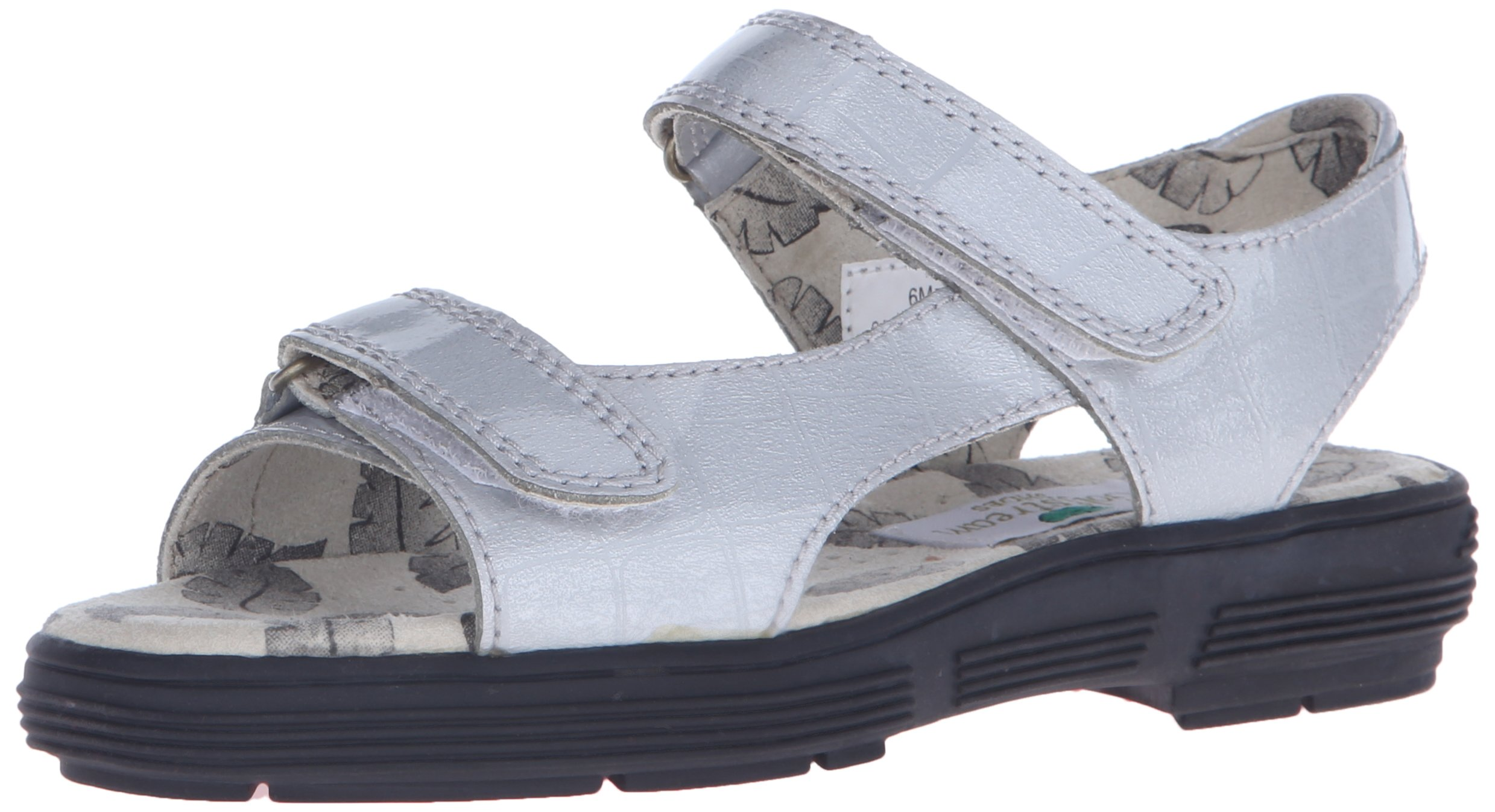 Golfstream Women's Two Strap Sandal Golf Shoe, Tuscany Faux Crocodile/Silver, 5 M US