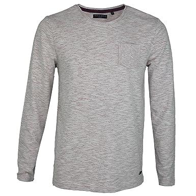 45d1e5a7e246 Brave Soul Mens Long Sleeve Marl Effect Crew Neck T-Shirt Jersey 100% Cotton  Top: Amazon.co.uk: Clothing