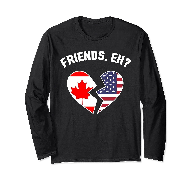 America Canada Flag T-Shirt Funny Eh Canadian American Shirt-mt