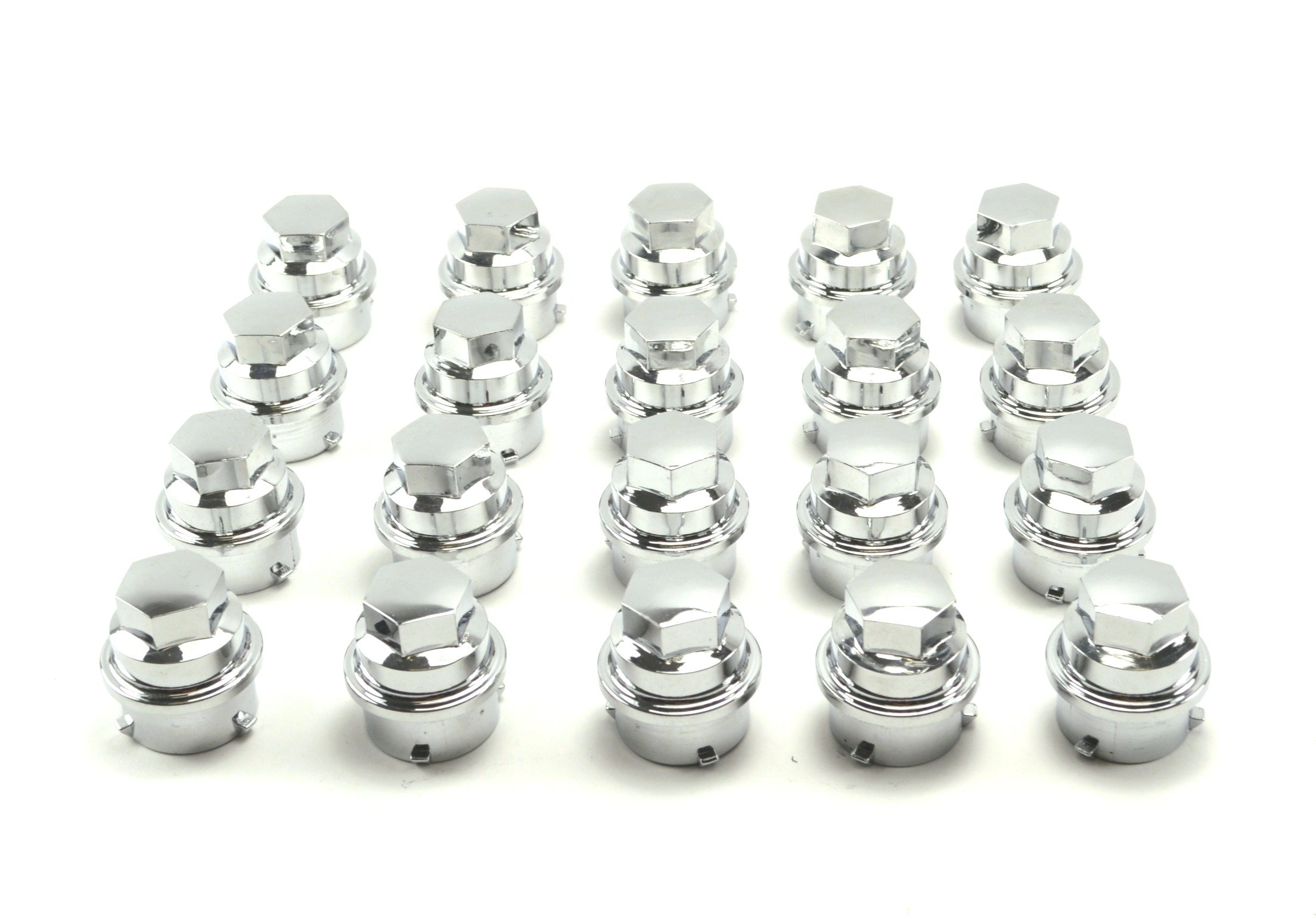 BB Auto Set of 20 New Chrome Screw On Lug Nut Covers Caps Hex head for Chevrolet Camaro Corvette Monte Carlo Impala