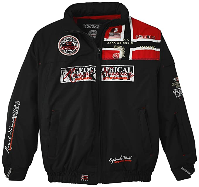 Geographical Norway - Chaqueta para niño, color negro, talla 12 años (152 cm