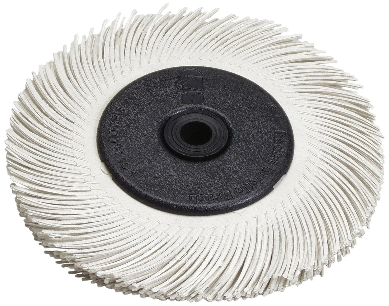 Scotch-Brite(TM) Radial Bristle Brush Replacement Disc T-C 120 Refill, Aluminum Oxide, 6000 rpm, 6 Diameter x 1 Width, White (Pack of 40)