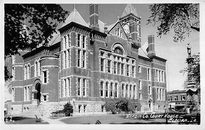 Eldora Iowa Hardin County Court House Exterior View Real Photo