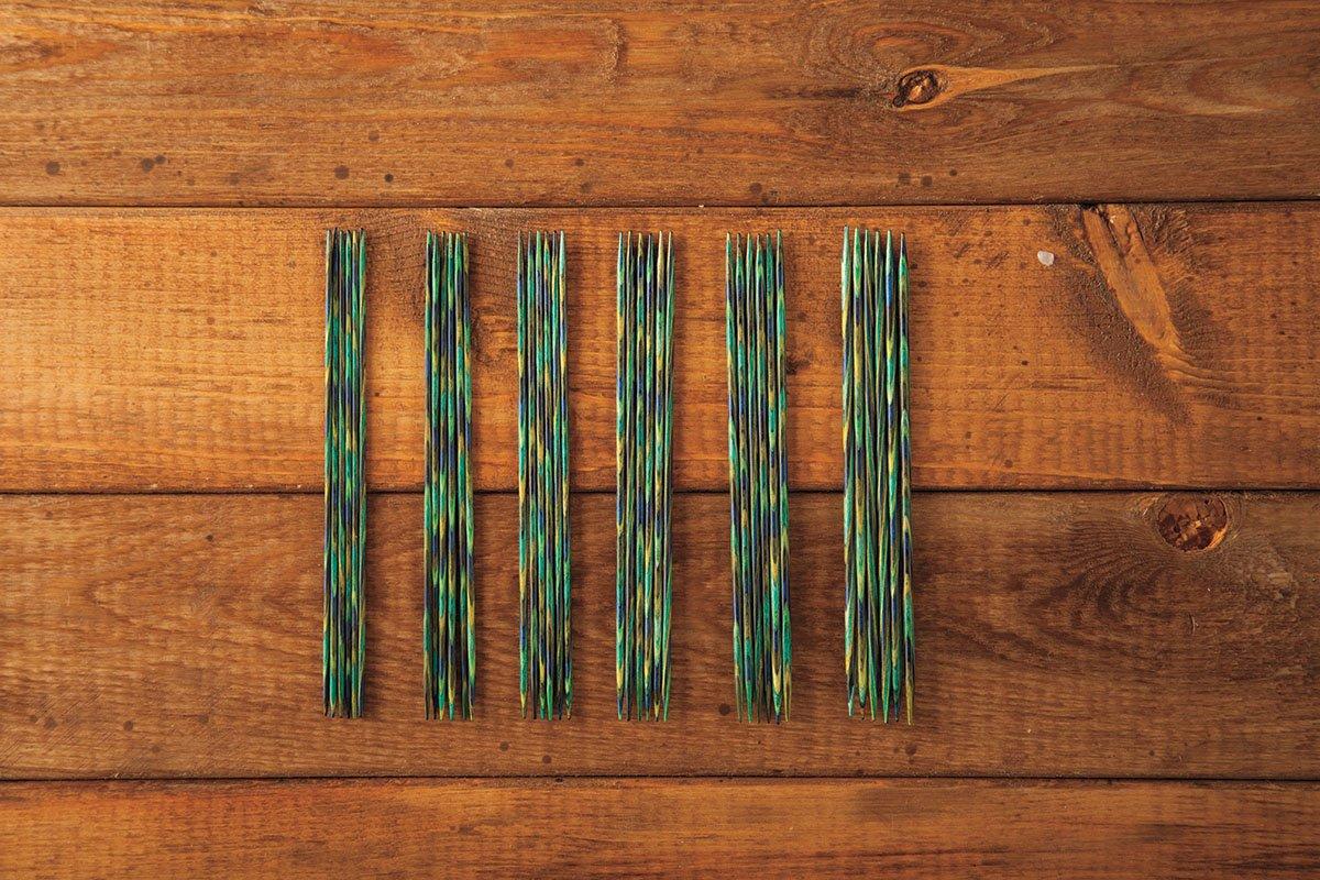 Knit Picks 6'' Caspian Wood Double Pointed Needle Set